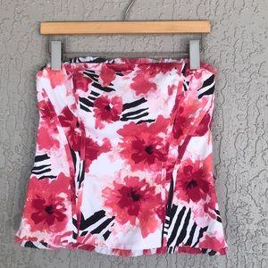 WHBM, Floral Stripe Print Bustier Corset Top